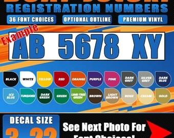 Custom Boat And Jet Ski Registration Numbers You Choose - Custom boat numbers