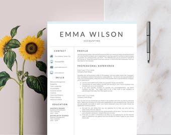 3 Page Resume Template | CV Template + Cover Letter For MS Word | Instant  Digital