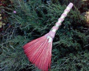 Wedding Jumping Broom, Wedding broom in ethnic style, Burlap wedding, Natural materials, Gift for wedding, Vintage wedding