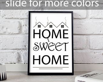 Home Sweet Home art, Funny poster, Home Sweet Home poster, Housewarming art, Funny Quote, Home wall art, Funny wall decor, Gift poster