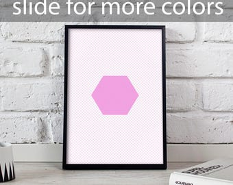 Absract Geomemetric Hexahedron art poster, Absract Geomemetric poster, Housewarming art, Absract Geomemetric wall decor, Gift poster