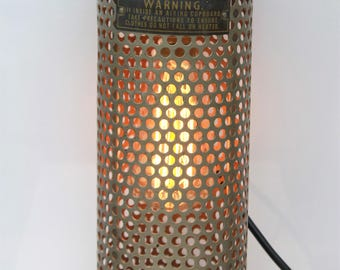 Industrial Wall Mounted Light. Old Heater Upcycle