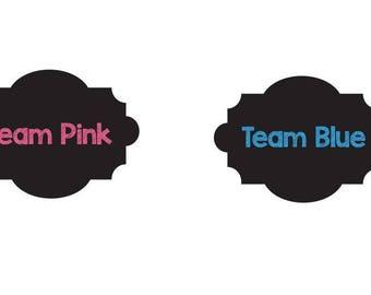 Team Pink Team Blue - Chalkboard Style-DIGITAL - Gender Reveal ideas - Gender Reveal Drink Labels- Gender Reveal Party Decoration