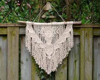 Large macrame wall hanging, 100% cotton