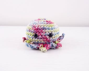 Rainbow Amigurumi Octopus Xl