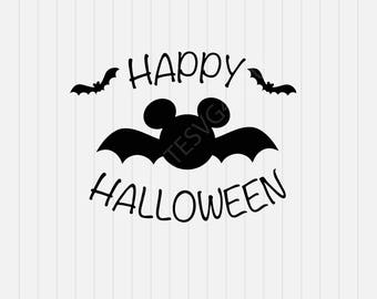 Happy Halloween Svg, Mickey Mouse Svg, svg, dxf, eps, png, Pdf - Download - Cut File, Clipart - Cricut Explorer - Silhouette Cameo
