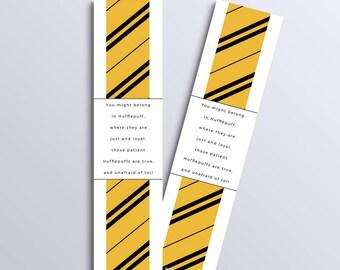 Hufflepuff bookmark (Harry Potter inspired)