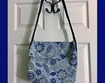 Everyday Tote Bag-Blues & Grays-Designer-Handmade