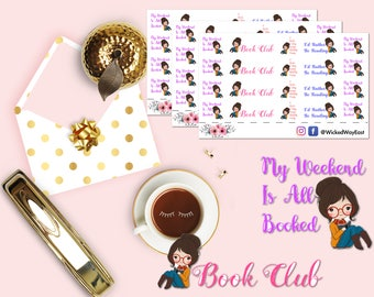 Reading Time Planner Sticker, Weekend Planner Stickers, Book Club Stickers, Hobby Time Stickers, Scrapbook Sticker, Planner Accessories