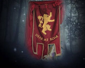 HOUSE LANNISTER Banner - Game of Thrones Sigil