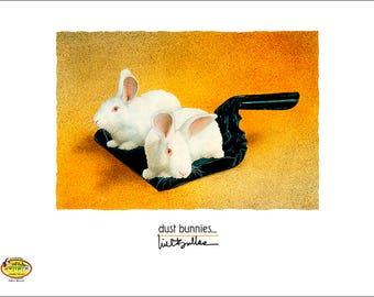 Will Bullas / art print / dust bunnies... / humor / animals / rabbits