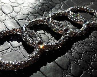 PROMO!!! Audi Boot Badge Emblem Covered With Crystals Swarovski