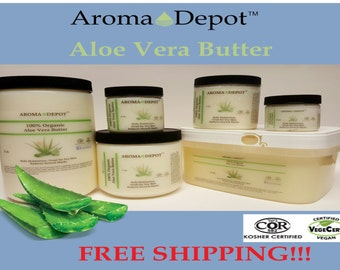Aloe Vera Butter Organic Cold Pressed Premium Quality from 2 oz up to 3 Lb Tub Skin, Hair & Body FREE SHIPPING!!!