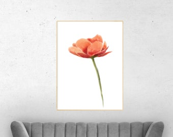 Home decor wall art, floral decal, floral canvas print, floral wall art, new house decoration, canvas art, flowers painting canvas