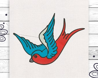 Bird embroidery Discount 10% Machine embroidery design 4 sizes INSTANT DOWNLOAD EE5098