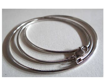 Silver snake chain. Sterling silver chain unconvinced