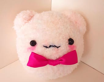 Pink Bear Plush with Bow