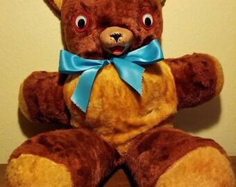 """Vintage 24"""" Carnival Fair Prize Teddy Bear - 1960s"""