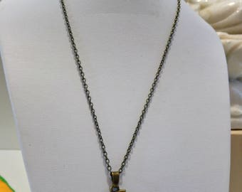 Citrine necklace natural stone, gemstone jewelry