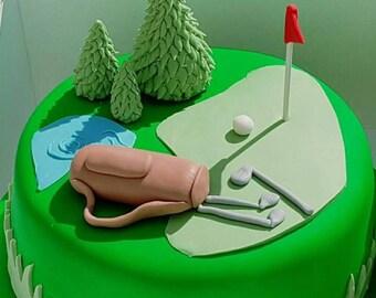 Golf cake Etsy