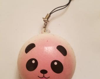 Cute Squishy Pink Panda Keychain Charm