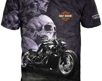 Cool 3D Printed T-Shirt Motorcycle Graphics Tee