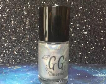 Good Morning, Starshine - Silver Linear Holographic Nail Polish Top Coat