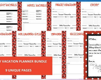 INSTANT DOWNLOAD Ultimate Disney World Vacation Planner Kit