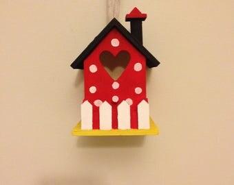 Handpainted Minnie Mouse Birdhouse