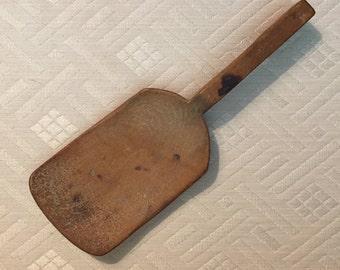 Primitive Antique Wooden Butter Paddle Spoon