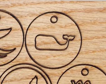 Whale Symbol Pendant