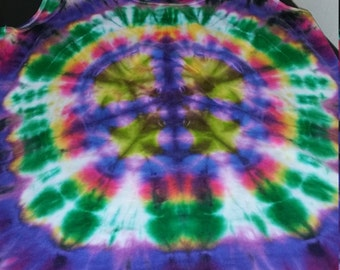 Peace Sign Tie Dye Tank Top