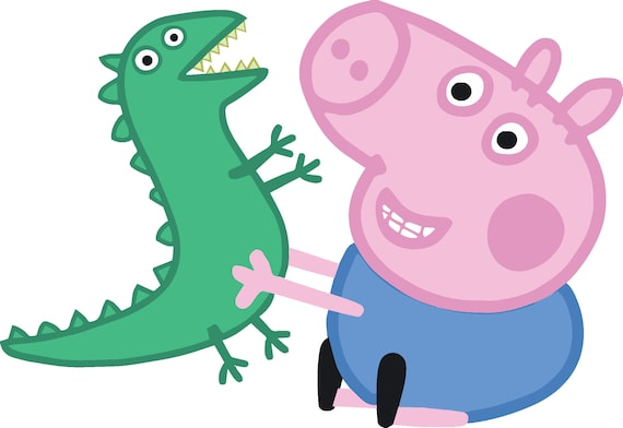 Sale george dino peppa pig high quality for cutting and george dino peppa pig high quality for cutting and printing layered svg png dxf birthday party decoration vector clipart tshirt decal voltagebd Images