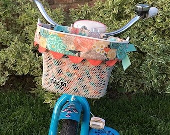 Biria Kids Bike Basket with Reversible Liner