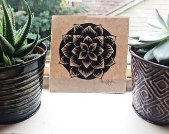 Succulent Relief Print