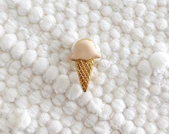 Vintage Ice Cream Enamel Pin// Dotty Smith Signed Pin//