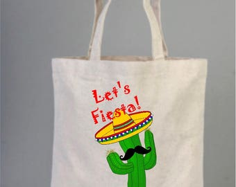Bachelorette Bag, Natural Wedding Bags, Cotton Bridal Gifts,  Canvas Bridal Bag, Funny Cactus Wedding Bag