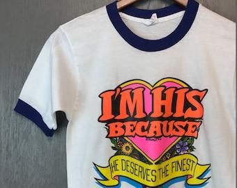 2XS * NOS vintage 70s 1973 He Deserves The Finest ROACH t shirt