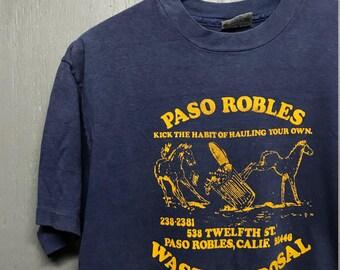 M vintage 80s Paso Robles California trash t shirt