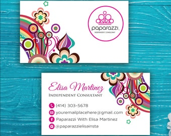 Paparazzi Business Card, Custom Paparazzi Accessories Business Card, Fast Free Personalization, Printable Business Card PP69