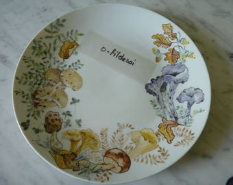 Plate porcelain decor handmade number 1