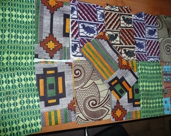 "13 new fabric pouches / AFRICAN Cotton "" Wax"""