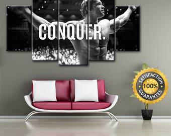 Conquer art, Arnold canvas, Iron Arni canvas, Conquer wall art, Conquer canvas, Conquer print, Iron Arni print, Conquer poster, Conquer