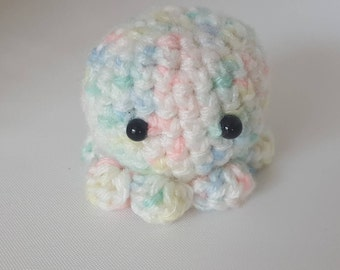 Little rainbow amigurumi octopus