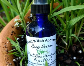 Bug Brew Plant Based Natural Insect Repellent & Aromatherapy. Non Toxic Bug Spray. Pure Organic Essential Oils. Vegan Gift.