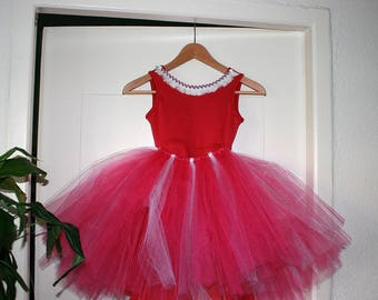 Summer dress that turns with Princess skirt and detachable collars, girl