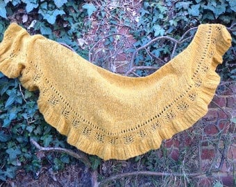 "Handmade ""Frou frou"" abyss shawl"