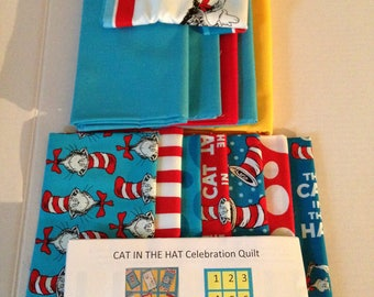 Fabric , Dr Seuss by Robert Kaufman Kit with Pattern