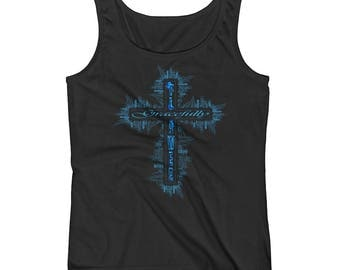 Gracefully Flawed Cross Ladies Tank