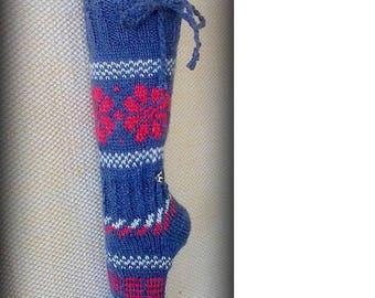 NAVY polka dot womens leg warmers, knit leg warmer womens, long socks adult, boot socks women, for girl, for women, Christmas Gifts, for her